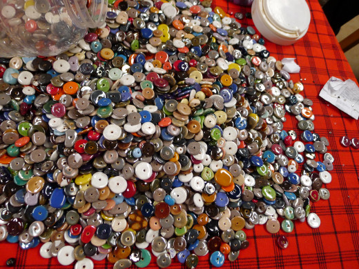 Finished beads ready to be strung into bracelets and necklaces