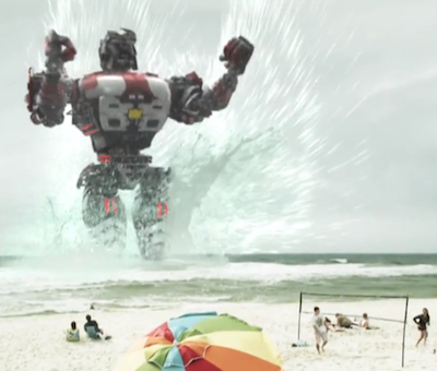 CGI from the Asylum knock-off of Pacific Rim entitled Atlantic Rim