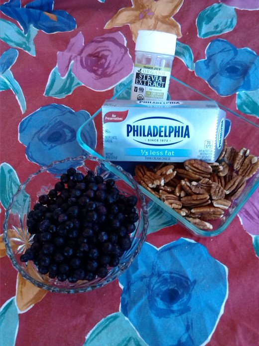 Diabetic Blueberry Cheesecake Ingredients
