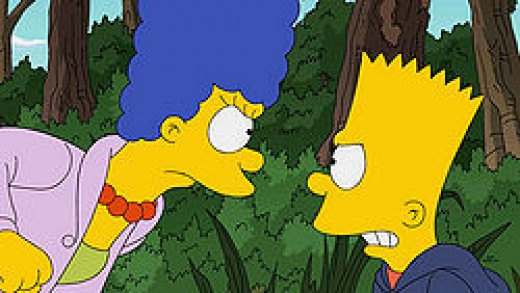 Bart and Marge are very furious with one another.