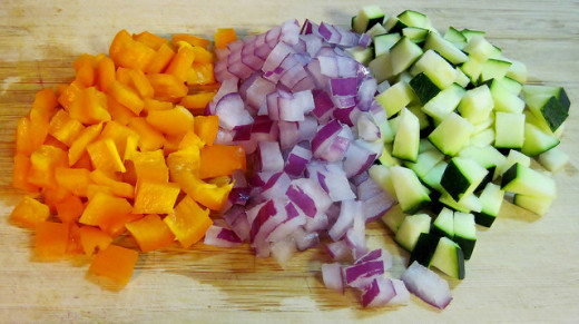 Chopping your veggies in advance can save you on preparation time!
