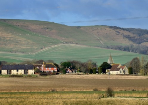 Rodmell Village in Sussex England