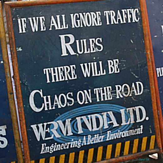 Follow traffic rules