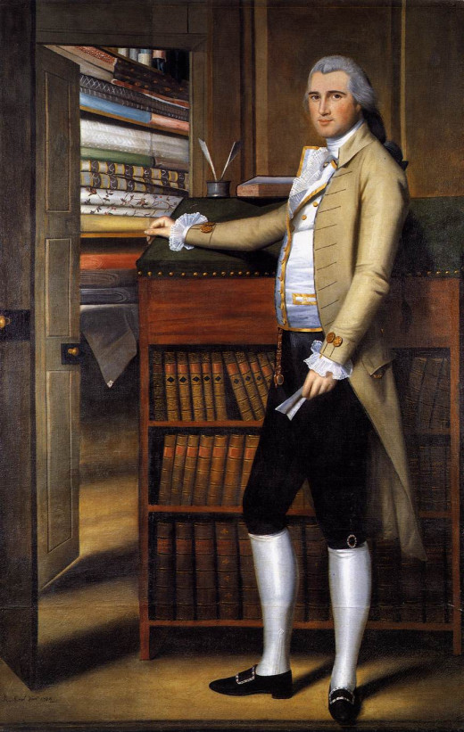 Elijah Boardman in a knee-breeches (culotte), painting by Ralph Earl, 1789