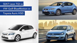 SEAT Leon TGI vs VW Golf BlueMotion vs Toyota Auris HSD