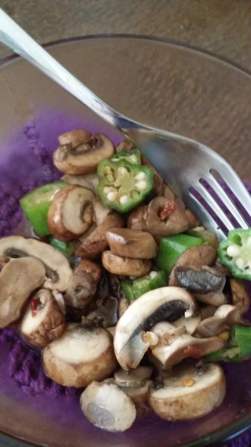 Mushroom & Okra