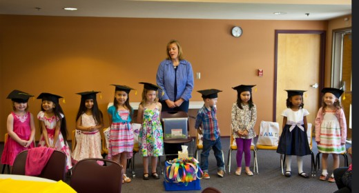 A graduation ceremony for preschool? Unfortunately, it has become all too common. Children thrive in preschools that emphasize a learn by doing approach and skip the ceremonies!