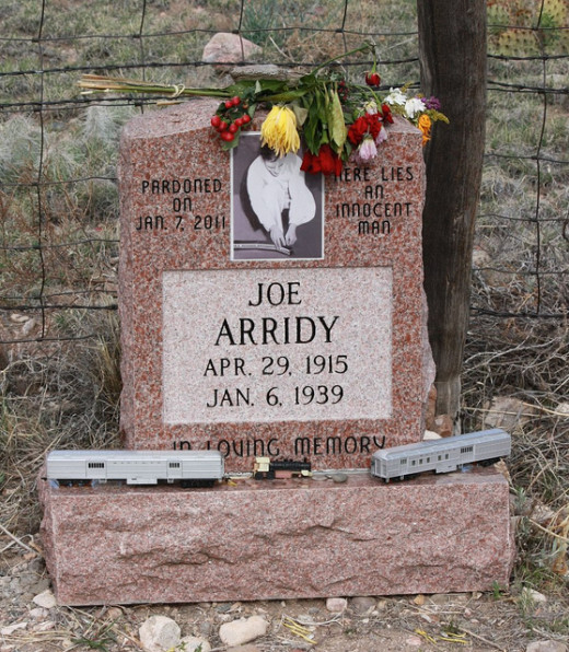 Headstone of Joe Arridy, the intellectually disabled man executed for a crime he didn't commit.