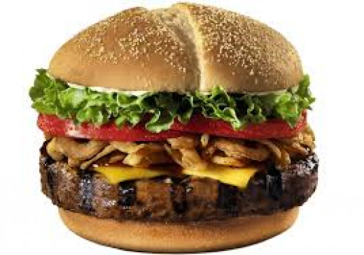 Yummm. A tasty cheeseburger. But sadly, this delicious food is not a snack.