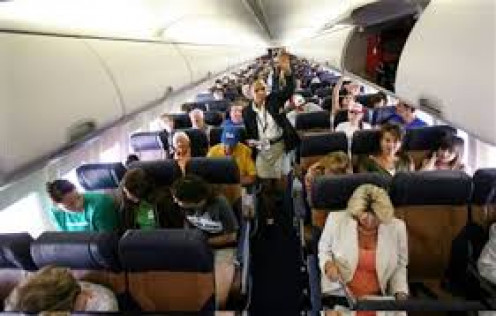 Passengers love the comforts of flying.