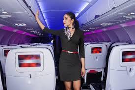 Flight attendants work very hard.