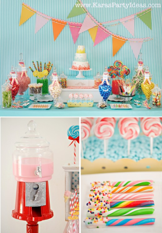 Dessert table with a Rock Candy Cake