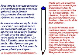 For the French it is the Pen and not the Sword.