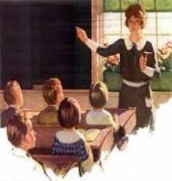 Teacher points out a problem to solve.