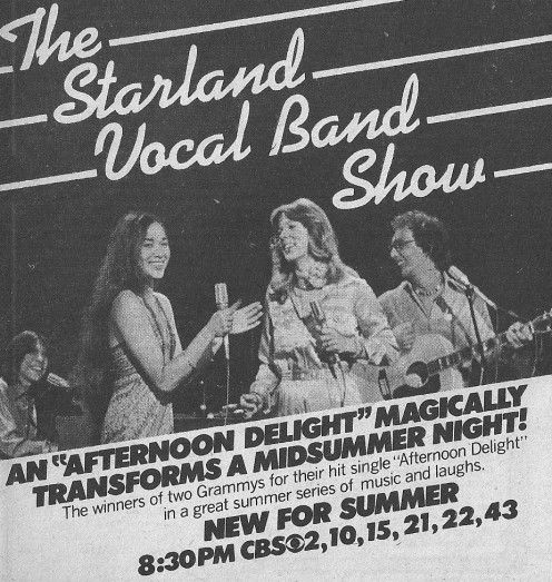 Vintage TV Guide ad for the Starland Vocal Band Show.