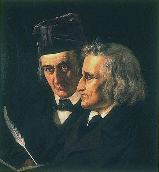 Jacob and Wilhelm Grimm by Elisabeth Jerichau-Baumann (1819–1881)