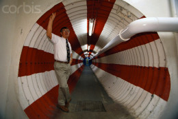 Principal Jack Sheldon stands in classrooms  which was built from a converted missile silo Holton, Kansas.