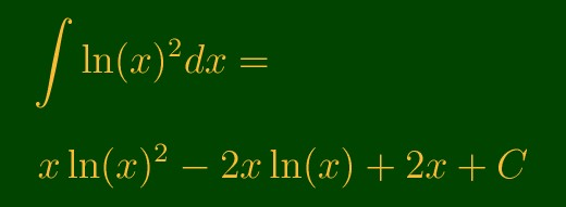 Antiderivative of Ln(x)^2