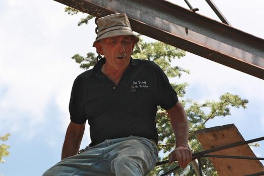 Jim Bishop, builder of the castle.