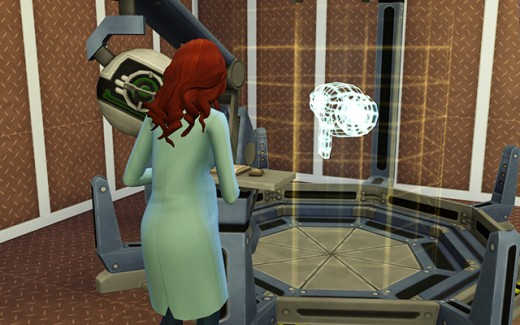 Delia brainstorms on the invention constructor.