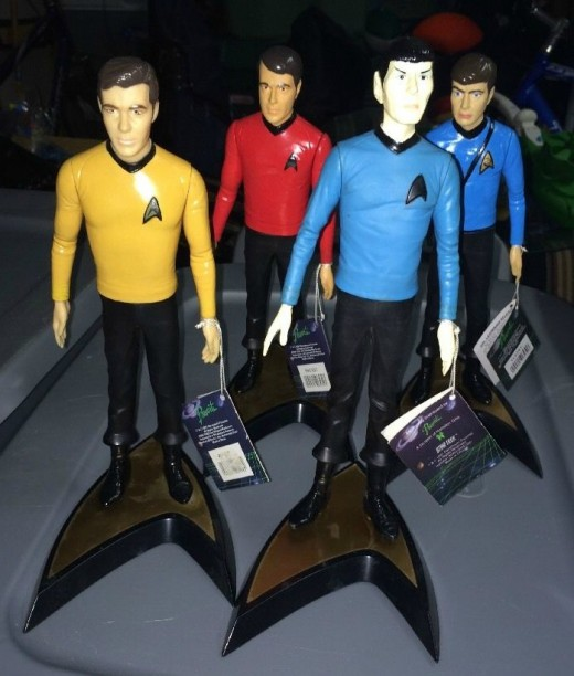 Star Trek 1991 Paramount Pictures Hamilton 10 inch Captain Kirk, Mr. Spock, Dr. McCoy, and Scott Figures.