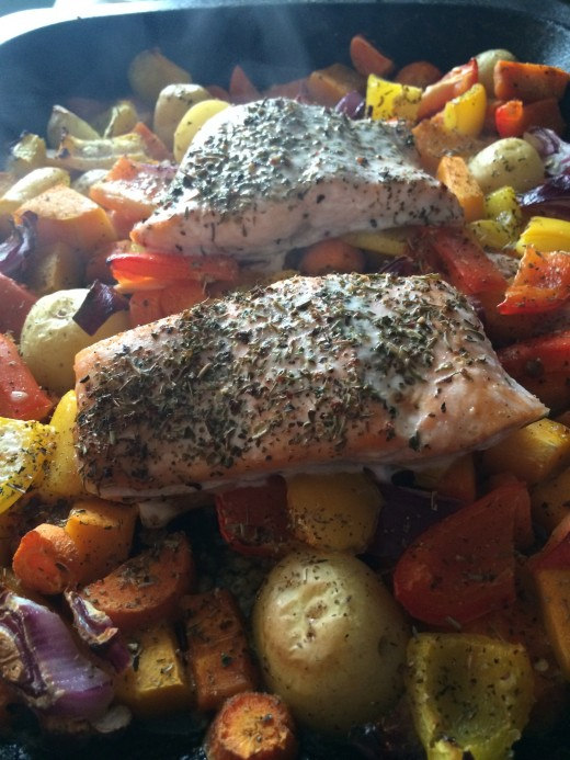 slimming World Syn Free One Pot Salmon