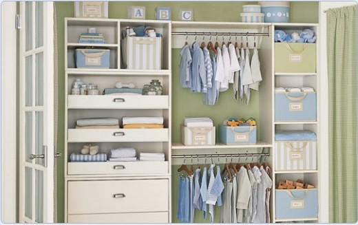 A well-organized baby's room is worth complimenting your friend about.