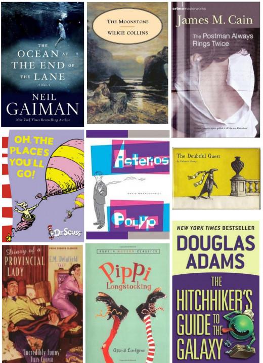 A selection of books I enjoyed.