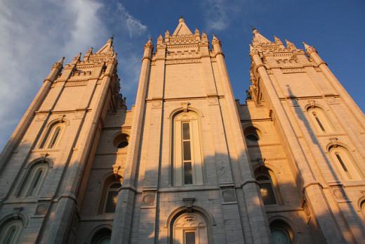 Salt Lake City Mormon Temple.
