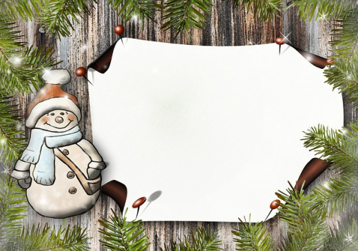 Personalize your Christmas postcard with a short saying.