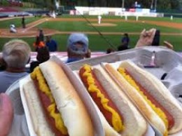 The hot dog is still the crowd favorite at Major League Baseball games.