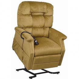 The entire Lift Chair raises and is supported by a sturdy metal base.