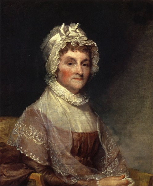 Abigail Adams, from a painting by Gilbert Stuart