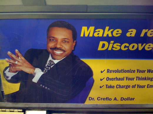 Pastor Creflo Dollar advertisement