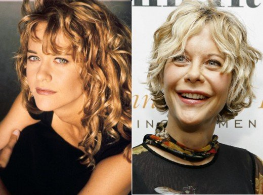 Meg Ryan is a common example of how people don't all age the same.