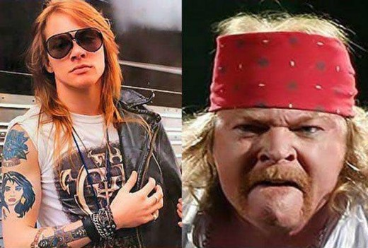 Rose went from pretty boy to macho man as he aged.