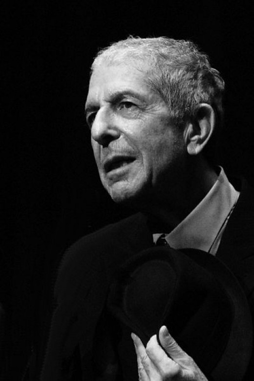Leonard Cohen, during the Geneva concert of the 2008 tour.
