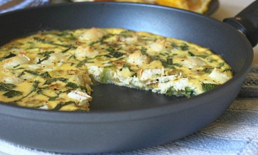 The One pan Frittata is easy and quick to make as the ingredients are assembled and cooked in single pan. The broiler or grill in the oven helps to cook the top of the frittata