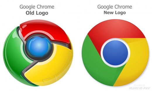 Google chrome new logo !