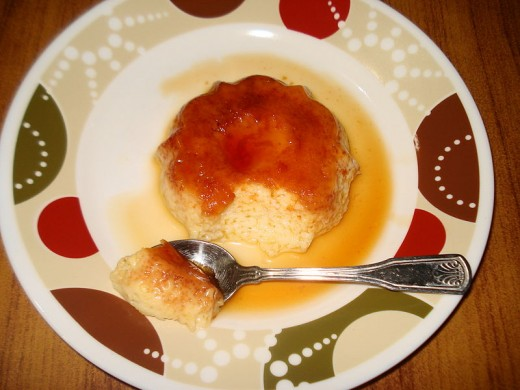 Caramel pudding - version prepared with a mold