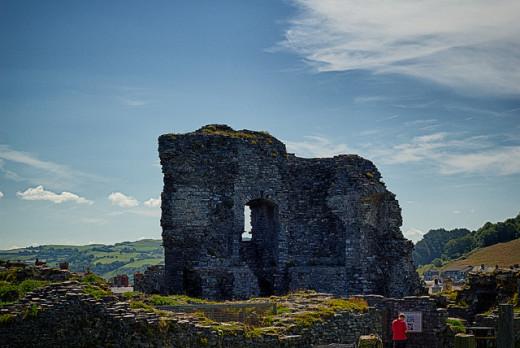 Castle ruins in Aberystwyth