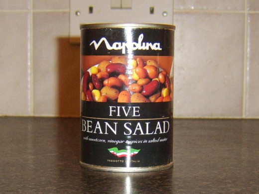 Canned Italian five bean salad
