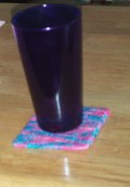 How to Make a Colorful Cross Stitched Coaster With Yarn