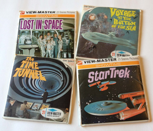 Some reels were based on popular television shows, such as these four science fiction classics.