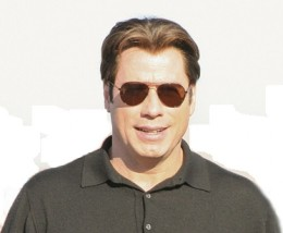Travolta: unrealistic hairline and amount of hair for a man his age.