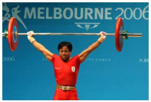 Nameirakpam Kunjarani Devi is the most decorated Indian sportswoman in weightlifting
