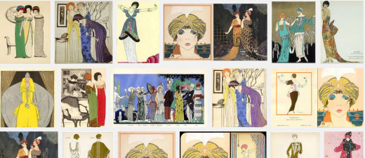 Paul Poiret Fashion illustrations.