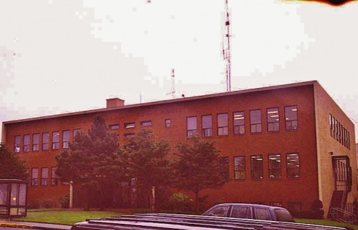 Newport Jail: Longo's window far right