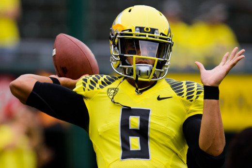 Any uniforms QB Marcus Mariota will be wearing this upcoming season can't possibly be as sweet as the ones he wore at Oregon, but that's life in the NFL.