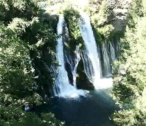Waterfall in Shasta cascade